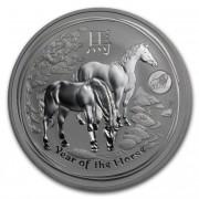 Lunární série II. stříbrná mince 1 AUD Year of the Horse Rok koně 1 Oz 2014 Privy Mark