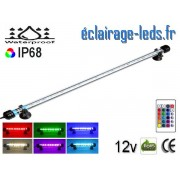 Tube LED RGB 4W Submersible 38cm Aquarium IP68 12V ref tla-08