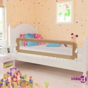 vidaXL Sigurnosna ogradica za dječji krevet bež 150 x 42 cm poliester