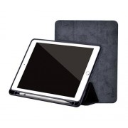Comma Pouzdro / kryt pro iPad 2017 / 2018 - Comma, Leather Case Black (Pencil Slot)