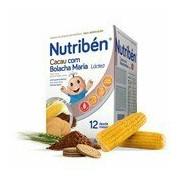 Farinha láctea cacau com bolacha maria a partir 12meses 600g - Nutriben