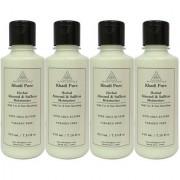 Khadi Pure Herbal Almond Saffron Moisturizer with Sheabutter Paraben Free - 210ml (Set of 4)