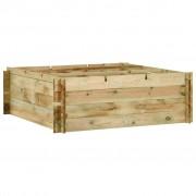 vidaXL Garden Raised Vegetable Bed Impregnated Pinewood 120x120x40 cm