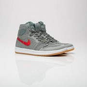 Jordan Brand Air Jordan 1 Retro Hi Flyknit Gs For Women In Grey - Size 38.5