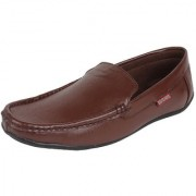 MARCO FERRO Men's Tan Slip on Smart Casuals Shoes
