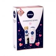 Nivea Care & Roses confezione regalo doccia crema 250 ml + antitraspirante Black & White Invisible Silky Smooth 150 ml donna