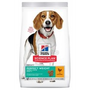 Hill's Science Plan Adult Perfect Weight Medium hrana uscata cu pui pentru caini 2 kg