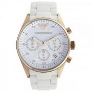 Armani Orologi Armani Ar5920 bianco e oro rosa Cronografo donna