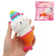 Squishy Cute Mermaid 15*7cm Soft Slow Rising Toy With Packing Bag Gift Collection