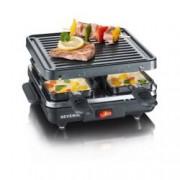 Gratar Electric Grill Raclette Severin Putere 600W 4 Zone Grill Negru