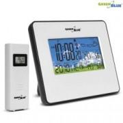 Statie Meteo DCF Wireless cu Afisaj Temperatura Umiditate Data Culoare Alb