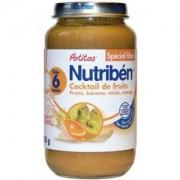 Nutriben Potitos dés 6 mois - Cocktail de Fruits - Spécial Fibres - Pot de 250gr