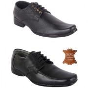 Woakers Men Black Combo Formal Shoes