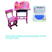 Princes Barbie Kid's Wooden Learning Education Study Table and Chair