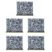 Комплект от 5 броя градински габиони - ограда, 100 x 100 x 30cm