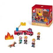 Set de joaca din lemn Mini povesti - Pompieri