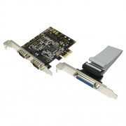 "Card PCI-Express adaptor la 2 x SERIAL RS232 + 1 x PARALEL, Logilink ""PC0033"""