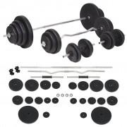 vidaXL Set de haltere și gantere 120 kg