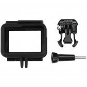ER Carcasa De Plástico ABS Resistente Funda Protectora Jaula Para GoPro HERO 5 PU187 -Negro