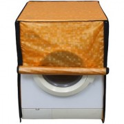 Glassiano golden colored waterproof and dustproof washing machine cover for front load LG F1496TDP23 8KG washing machine
