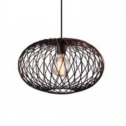 [lux.pro] Függőlámpa függeszték Orlando 150 x Ø 40 cm design mennyezeti lámpa bronz