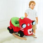 Colortree Plush Ride On Rocking Horse Play Train Rocker
