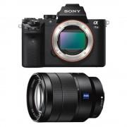 Sony A7 MK 2 Aparat Foto Mirrorless 24MP Full Frame Full HD Kit cu Obiectiv Sony Vario Tessar T* FE 24-70 F/4 OSS