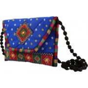 Craft Trade Traditional Cotton Jaipuri Art work Sling Bag For Girl and Women Pouch(Blue)