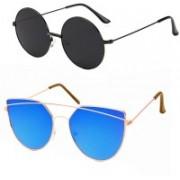 Elligator Over-sized Sunglasses(Black, Blue)