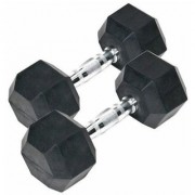arnav Imported Rubber Coated Fixed Weight Hexagon Dumbbell set of two pcs ( 4 kgx2) Home Gym and Fitness