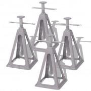 vidaXL vidaXLi haagissuvila stabiliseerimisalused, 4 tk 285-430 mm, alumiinium ja teras