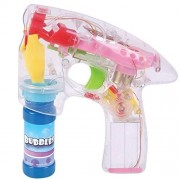 Guilty Gadgets Led Bubble Gun Shooter Light Up Lights with Two Solutions