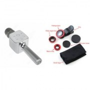 Zemini Q7 Microphone and Mobile Lens for SONY xperia e1.(Q7 Mic and Karoke with bluetooth speaker | Mobile Lens Clip Lens )