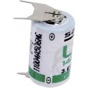 Baterie litiu LS 14250 3PF 1/2 AA cu pini de lipire. 3,6 V, 1200 mAh, Saft
