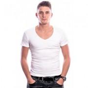 Beeren Men T-Shirt V-Hals Diep Wit (3 pack) - Wit - Size: Extra Large