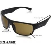 Fastrack Wrap-around, Rectangular Sunglasses(Brown)