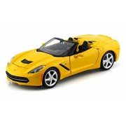 Maisto 2014 Chevrolet Corvette Stingray Convertible, Yellow - 31501 1/24 Scale diecast Model car