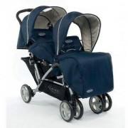 Детска Количка за близнаци и породени деца, Stadium Duo Peacoat, Graco, 9431808555