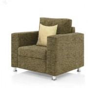 furniture4U - Fully Upholstered Single-Seater Sofa - Premium Valencia Sepia