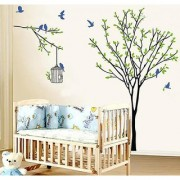 Walltola PVC Multicolor Nature Trees Wall Sticker (No of Pieces 1)