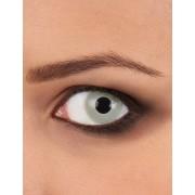 Lentes de contacto fantasia olho de zombie cinzento