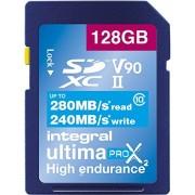 INTEGRAL Cartão SDXC Ultima Pro 128GB V90 (280/240MB/s)(Class 10)
