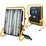 *Leuchte Power Jet-Light 4x55W IP54 5m H07RN-F3G1,5 Gestell gelb