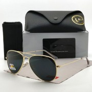 Davidson Elegante Golden Black Aviator Sunglasses