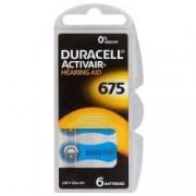 Baterii pentru aparate auditive Duracell ZA 675 Zinc Aer set 6 baterii