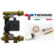 """Kit grup de amestec pt circuite pardoseala cu pompa electronica 1"""" + cap termostatic TIEMME"""