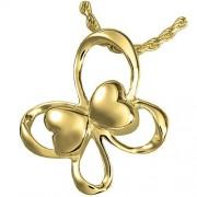 Memorial Gallery MG-3803gp Fluttering Hearts Mariposa 14 K Oro/Plateado Cremación Pet Jewelry, Dorado, Plateado (Gold-Plated Sterling Silver)
