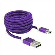 Kabl USB 2.0 na microUSB M/M ljubičasta S-Box, 1.5m