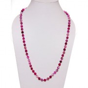 The Haat Onyx Stone Necklace (Pink)