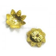 Alcoa Prime 50Pcs 10mm Gold Plated Flower Metal Bead Caps Findings Jewelry Beading Craft